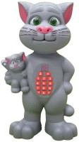 Prro Talking Mother-Kid Tomcat Early Education Toy For Kids (Big Size) (Grey)