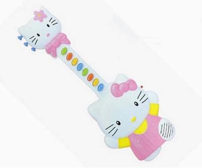 Baby World Musical Hello Kitty Guitar (Pink, White)