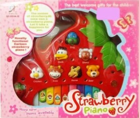 Shop & Shoppee Strawberry Shaped Animals Sound Piano For Kids (Multicolor)