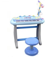 Buddy Fun 37 Key Electronic Piano – Educational Musical Toy With Microphone + Mp3 Plug-In Option + Stool (Yellow)