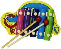 Shopat7 Elephant ShapeWooden Xylophon (Multicolor)