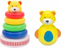 Funworld Musical Stack Ring With Roly Poly Teddy (Yellow)