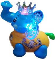 Turban Toys Cute Clever Elephant With Lights And Music (Multicolor)