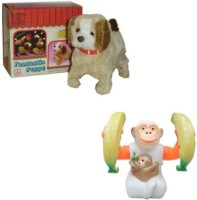 Tara Lifestyle Jumping Musical Monkey And Puppy (Multicolor)