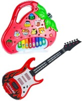 Shop & Shoppee Combo Of Rockband Guitar & Strawberry Shaped Piano (Multicolor)