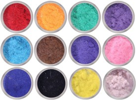 Leysha 12 Color Flocking Velvet Powder