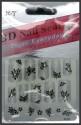 London Jewels 3D Nail Seal Model 006 - Black & White Mix