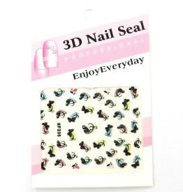 SPM New Nail Art Pasting Stickers 3d kit14