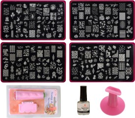 Imported Nail Art Stamping Kit with 4 Large Image Plates WA50_SET C