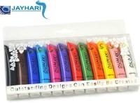 Jayhari 12 Colors Painting Acrylic 3D Nail Art Paint Tube (Muticolor)