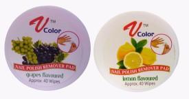 V-Color Nail Polish Remover Pads (Grapes, Lemon)