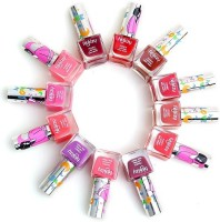 Foolzy Pack Of 12 Love Matt 2 Nail Paint Polish 120 Ml (Matt 2 Shades)