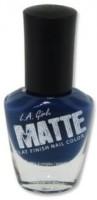 L.A. Girl Matte Flat Finish 14 Ml (Matte Blue Twilight Nl 545)