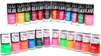 Foolzy Pack Of 24 Starlet Nail Polish Paint 144 Ml (Glam Shades)