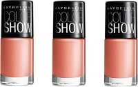 Maybelline Color Show Nail Polish Pack Of 3 6 Ml (Nude Skin)