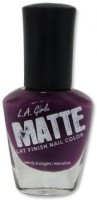L.A. Girl Matte Flat Finish Nail Color 14 Ml (Plum NL535)