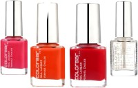 Colorbar Nail Kit 36 Ml (Tangerine Mojito, Sizzling Pink, Exclusive 46, Top Coat)