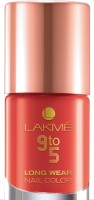 Lakme 9 To 5 Long Wear Nail Color 9 Ml (Coral Cue)