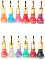 Foolzy Pack Of 12 Sparkling Nail Polish 150 Ml (Glitter)
