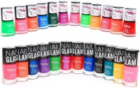 Foolzy Pack Of 24 Radiant Nail Polish Paint 144 Ml (Nail Glam Shades)