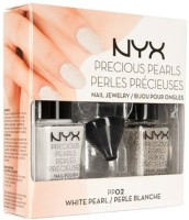 NYX 1 Precious Pearls Nail Polish Set - WHITE PEARL- PP02 15 Ml