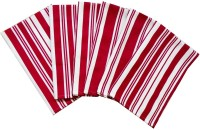 Tidy Red, White Set Of 6 Napkins