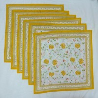 Chromatic Collections NP-Anokha-3526-Yellow-A Set Of 6 Napkins Yellow