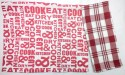 Barkat CookEat Set Of 2 Cloth Napkins - Red, White