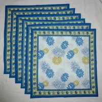 Chromatic Collections NP-Victoria-3530-Blue-A Set Of 6 Napkins Blue