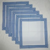 Chromatic Collections NP-Reflection-3329-Blue-A Set Of 6 Napkins Blue