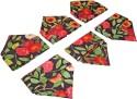 Sriam Cart Flower Set Of 6 Cloth Napkins - Multicolor