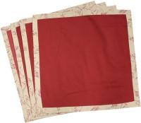 MilanoHome Rose & Leaf Set Of 4 Cloth Napkins (Maroon)