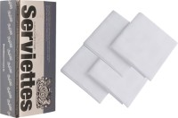 The Cotton Company Pure White Set Of 4 Napkins