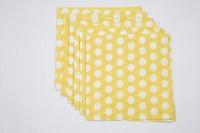Ocean Homestore Yellow Set Of 6 Napkins
