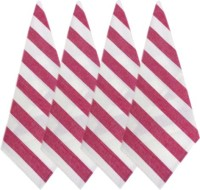 Cotonex Red, White Set Of 4 Napkins