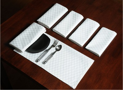 Swayam Set Of 6 Napkins - White