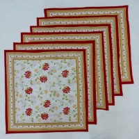 Chromatic Collections NP-Anokha-3526-Red-A Set Of 6 Napkins Red