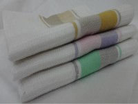 Sgt Grey / Green, Mustard / Khaki, Pink / Purple Set Of 3 Napkins