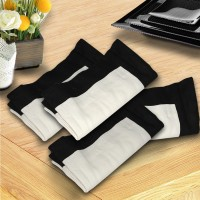 Milano Home White, Black Set Of 4 Napkins