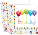 Disney Happy Birthday Streamers Two-ply Paper Set Of 20 Paper Napkins - Multicolor