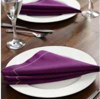 At Home Royal Legacy Set Of 2 Cloth Napkins (Purple)