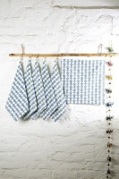 Ocean Home Store Blue Set Of 6 Napkins - NAPE995TYJSBBEZN