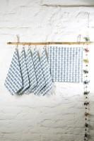 Ocean Home Store Blue Set Of 6 Napkins - NAPE995TYJSBBEZN