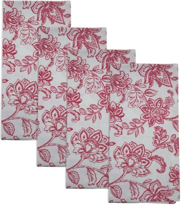 Smart Home Textile Red, White Set Of 4 Napkins - NAPE6ZDYKDGUHF3C