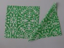 Home Func Green N White 101 Set Of 4 Cloth Napkins - Green, White