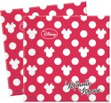 Disney Minnie Fashion Two-ply Paper Set Of 20 Paper Napkins - Multicolor