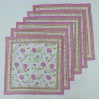 Chromatic Collections NP-Anokha-3526-Pink-A Set Of 6 Napkins Pink