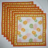 Chromatic Collections NP-Victoria-3530-Orange-A Set Of 6 Napkins Orange
