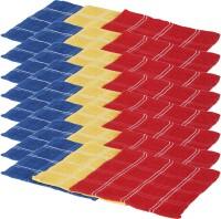 Kurtzy Red, Yellow, Blue Set Of 24 Napkins