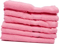 The Home Story Pink Set Of 6 Napkins - NAPEBZFYCHQ6UKAX